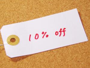 10%割引セール